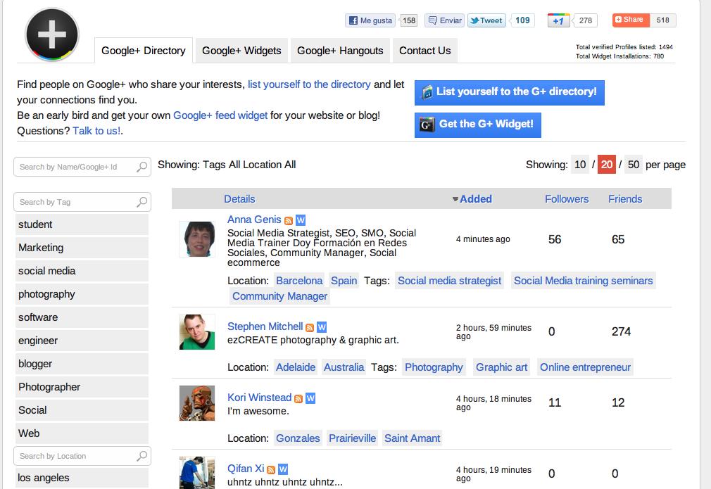 Como darte de alta en el Directorio de Google +